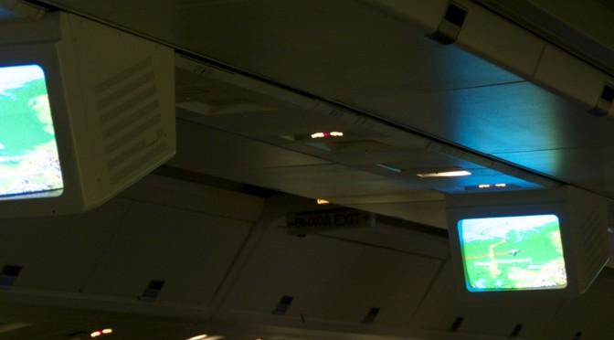 Flug über Moskau nach Tokyo