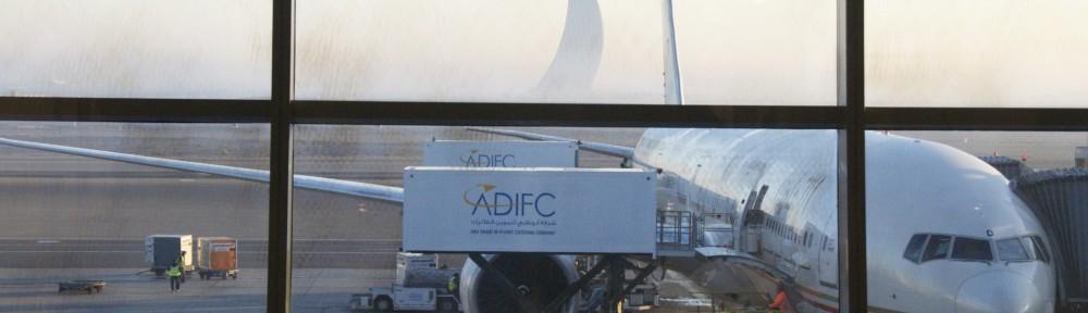 Umsteigen in Abu-Dhabi