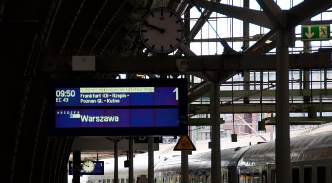 1. Etappe: Zug Berlin – Warszawa Express