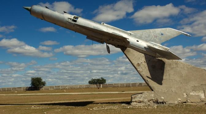 Verlassener sowjetischer Luftwaffenstützpunkt