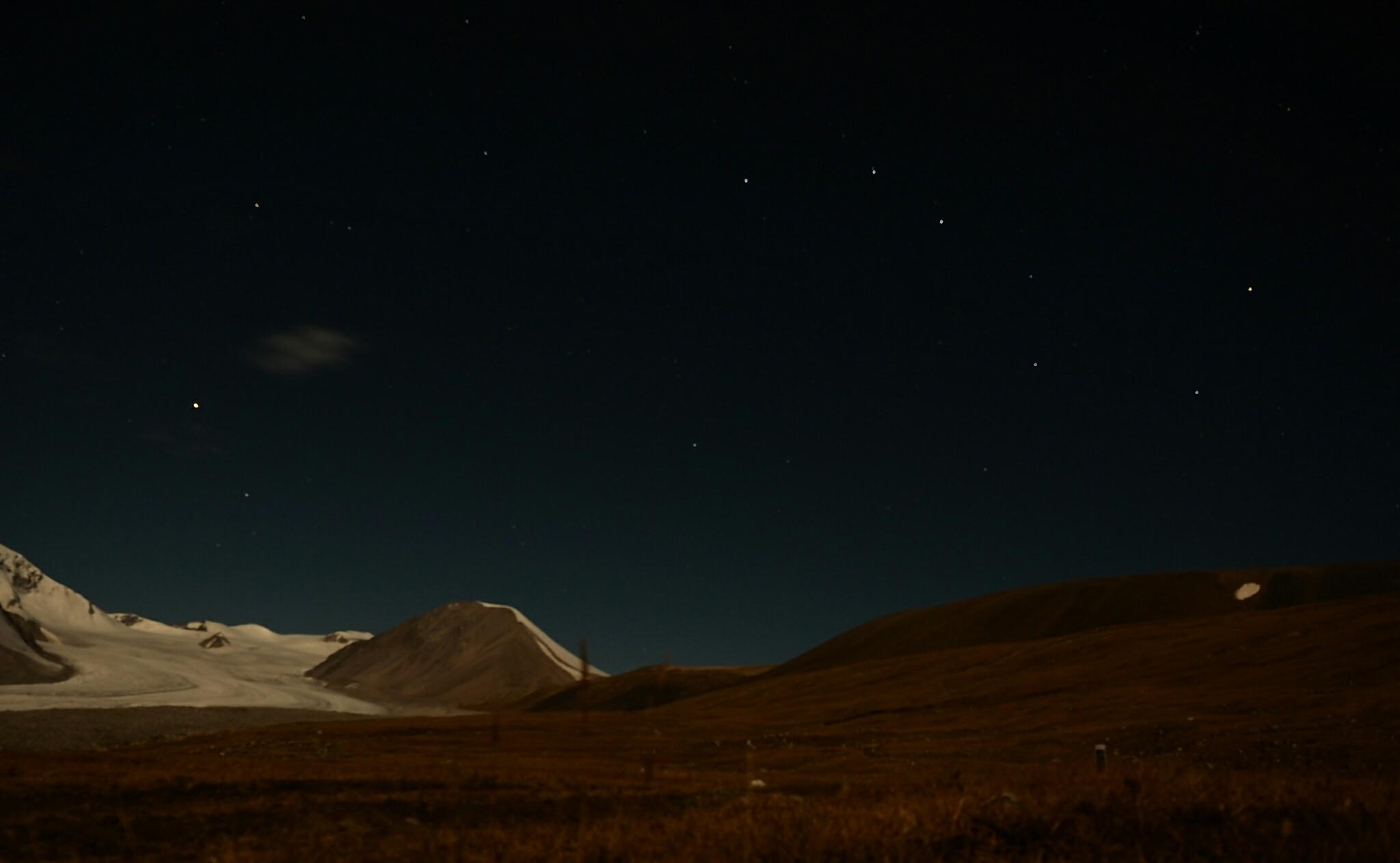 Nachts dann Vollmond und Sternenhimmel